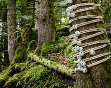 Ghungroos - Oeuvre de Floriane Pilon située au bois de la cascade du Rossignolet - Horizons 2018