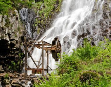 Gong - Oeuvre de Olivier Thomas située au lac d'Estivadoux - Horizons 2018