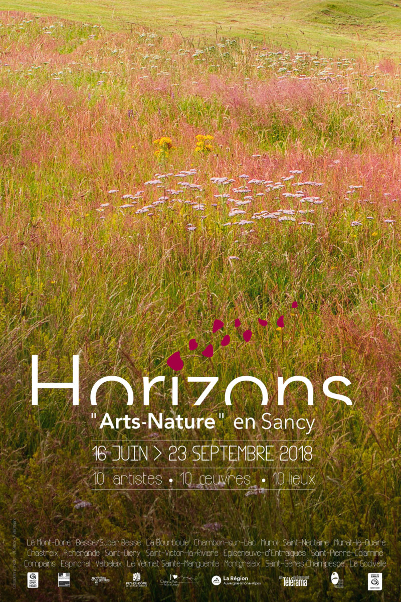 "Affiche Horizons ""Arts Nature"" en Sancy 2018"