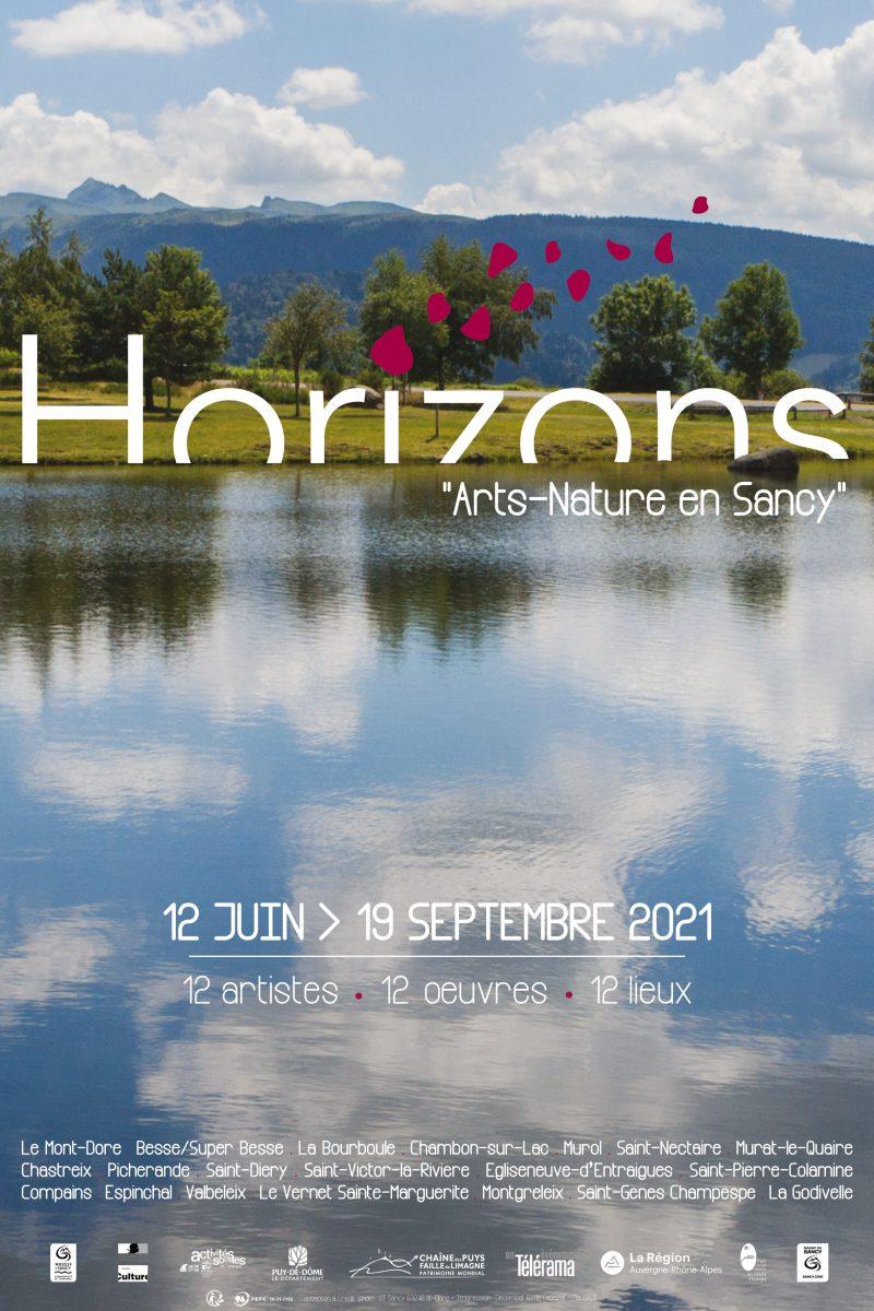 """Affiche Horizons """"Arts-Nature"""" en Sancy 2021"""